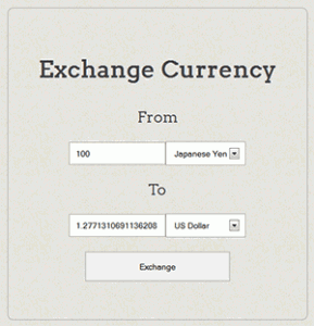 Currency Coverter Page